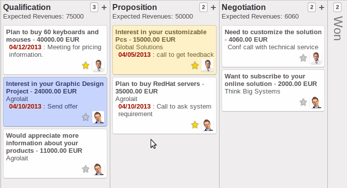 odoo crm screenshot